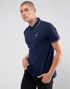 Темно-синяя футболка-поло с короткими рукавами Fila Vintage - Темно-синий