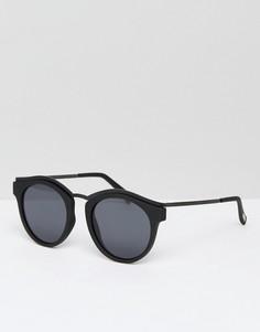 Черные круглые солнцезащитные очки Le Specs Hypnotiz - Черный