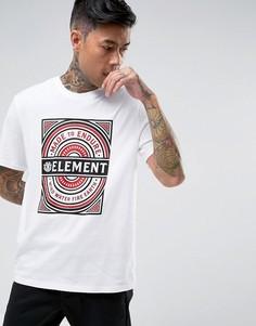Белая футболка с логотипом Element Note - Белый