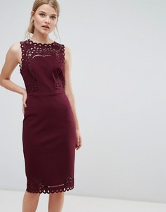 Облегающее платье с вырезами Ted Baker - Красный