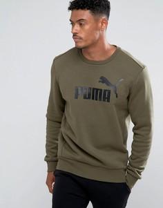 Зеленый свитшот с круглым вырезом Puma ESS No.1 83825214 - Зеленый