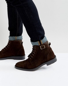 Коричневые замшевые ботинки ASOS - Коричневый