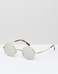 Круглые солнцезащитные очки Dolce & Gabbana - Золотой
