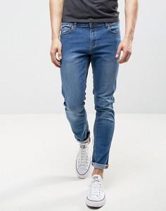 Светло-синие облегающие джинсы LDN DNM - Синий