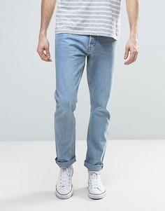 Синие выбеленные прямые джинсы Weekday Common - Синий