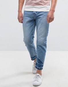 Свободные джинсы с необработанными краями Kiomi - Синий