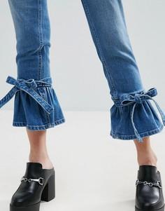 Узкие джинсы-клеш в винтажном стиле с завышенной талией ASOS FARLEIGH - Синий