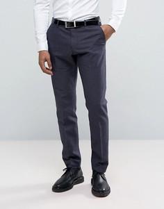 Узкие льняные брюки Selected Homme - Темно-синий