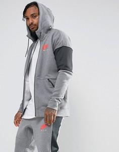 Серый худи на молнии Nike Air 861612-091 - Серый