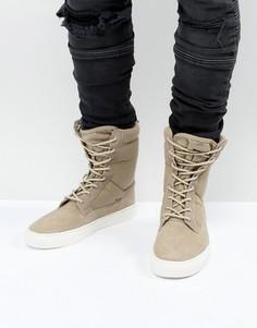 Песочные ботинки-кроссовки на толстой подошве ASOS - Светло-серый