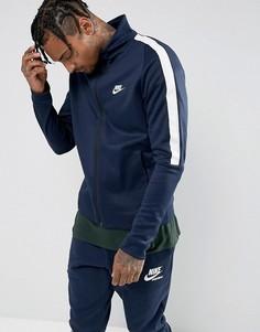 Темно-синяя спортивная куртка Nike Tribute 861648-451 - Темно-синий
