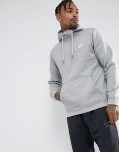 Серый худи на молнии с логотипом Nike Club 812519-063 - Серый