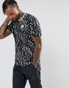 Серая футболка с принтом Nike 856583-063 - Серый