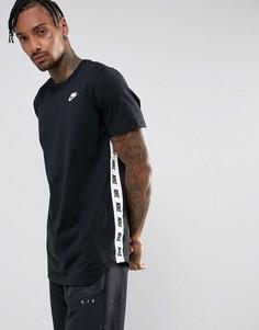 Черная футболка с принтом Nike 877086-010 - Черный