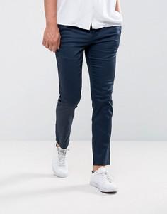 Облегающие брюки с 5 карманами Burton Menswear - Темно-синий