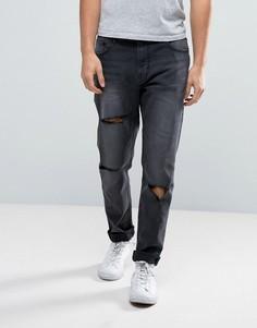 Черные джинсы скинни с заниженным шаговым швом Waven - Черный