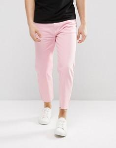 Укороченные джинсы с необработанным низом Dr Denim Otis - Розовый