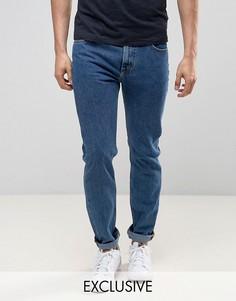 Выбеленные джинсы слим Lee Rider - Синий