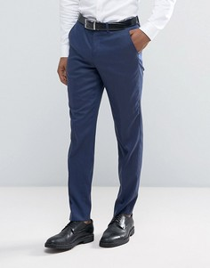 Облегающие фактурные брюки Jack & Jones - Темно-синий