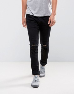 Черные джинсы скинни с рваными коленями Loyalty and Faith - Черный