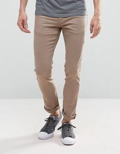 Зауженные джинсы песочного цвета с легкой потертой отделкой Loyalty and Faith - Светло-серый