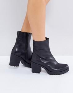 Черные кожаные ботинки Vagabond Grace - Черный