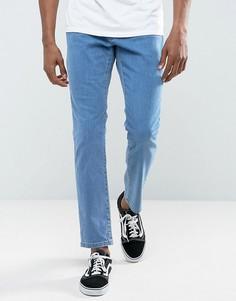 Выбеленные джинсы скинни Brooklyn Supply Co - Синий