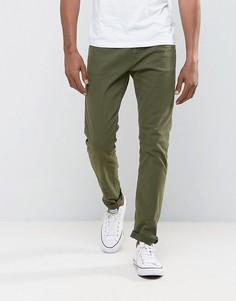 Узкие джинсы цвета хаки Esprit - Зеленый
