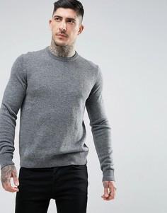 Серый джемпер из овечьей шерсти Farah Rosecroft - Серый