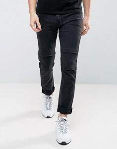 Выбеленные черные байкерские джинсы скинни ASOS - Черный