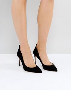 Черные замшевые туфли-лодочки Ted Baker Savio - Черный
