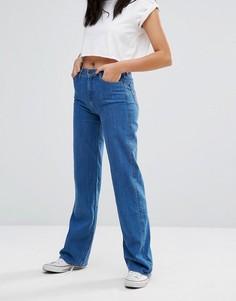 Джинсы в стиле ретро с завышенной талией и широкими штанинами Lee - Синий