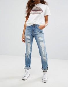 Рваные джинсы с прямыми штанинами Lee Elly - Синий
