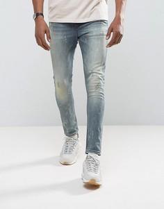 Рваные супероблегающие джинсы в винтажном стиле ASOS - Синий