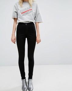 Супероблегающие джинсы без карманов с завышенной талией Cheap Monday - Черный