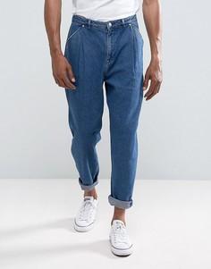 Свободные темные джинсы ASOS - Синий