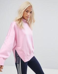 Розовый свитшот с высоким воротом adidas Originals - Розовый