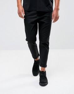 Узкие укороченные брюки AllSaints - Черный
