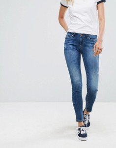 Состаренные зауженные джинсы Esprit - Синий