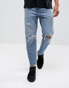 Рваные джинсы прямого кроя AllSaints - Синий