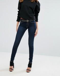 Зауженные джинсы с классической талией Replay - Синий