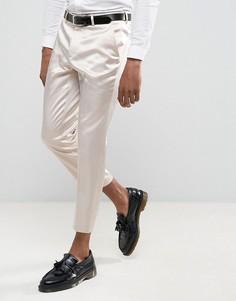 Кремовые укороченные брюки скинни ASOS Wedding - Кремовый