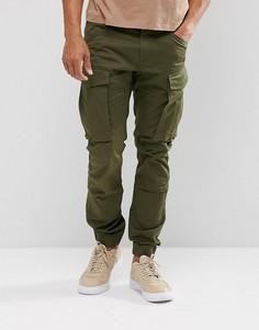 Узкие брюки с манжетами G-Star Rovic - Зеленый