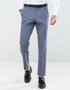 Эластичные облегающие брюки Selected Homme - Синий