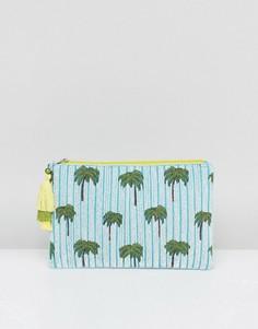Клатч с пальмами и пайетками Boohoo - Мульти