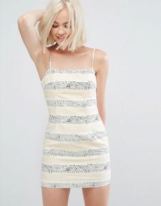 Платье мини в полоску Minkpink Sundowner - Мульти