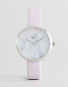 Часы с мраморным принтом на циферблате ASOS - Кремовый