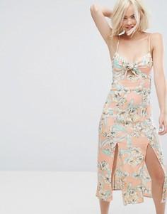 Платье миди с цветочным принтом Minkpink - Мульти