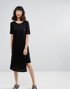 Асимметричное платье-футболка Moss Copenhagen - Черный