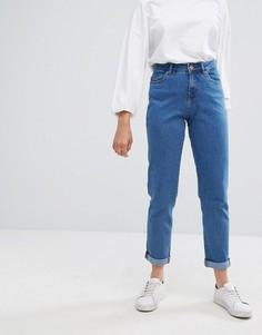 Прямые джинсы с завышенной талией Noisy May - Синий